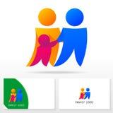Στοιχεία προτύπων σχεδίου εικονιδίων οικογενειακών λογότυπων - απεικόνιση Στοκ Εικόνες