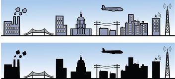 στοιχεία πόλεων ελεύθερη απεικόνιση δικαιώματος