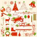 στοιχεία σχεδίου Χριστουγέννων Στοκ φωτογραφία με δικαίωμα ελεύθερης χρήσης