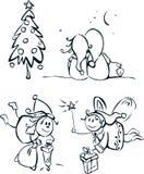 στοιχεία σχεδίου elfs λίγα απεικόνιση αποθεμάτων
