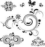 στοιχεία σχεδίου floral Στοκ Εικόνες