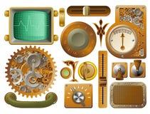 στοιχεία σχεδίου steampunk βικτοριανά Στοκ Εικόνες