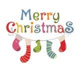Στοιχεία σχεδίου για τα Χριστούγεννα Στοκ Εικόνες