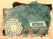 Στοιχεία σχεδίου λευκώματος αποκομμάτων - τρύγος Στοκ Εικόνες