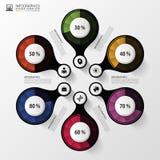 Στοιχεία σχεδίου παρουσίασης διαγραμμάτων ποσοστού Infographics επίσης corel σύρετε το διάνυσμα απεικόνισης διανυσματική απεικόνιση