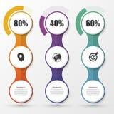 Στοιχεία σχεδίου παρουσίασης διαγραμμάτων ποσοστού Infographics διάνυσμα απεικόνιση αποθεμάτων