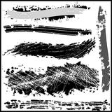 Στοιχεία σχεδίου συνόλου grunge. Διανυσματικά αφηρημένα σύμβολα. Στοκ Εικόνες