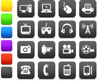 Στοιχεία σχεδίου τεχνολογίας και επικοινωνίας Στοκ φωτογραφία με δικαίωμα ελεύθερης χρήσης
