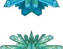 Στοιχεία σχεδίου των κρυστάλλων και των μεταλλευμάτων κινούμενων σχεδίων Στοκ φωτογραφία με δικαίωμα ελεύθερης χρήσης