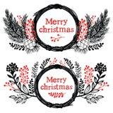 Στοιχεία σχεδίου Χαρούμενα Χριστούγεννας Στοκ Εικόνα
