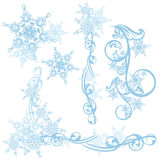 Στοιχεία σχεδίου χιονιού Στοκ Εικόνα