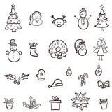 στοιχεία σχεδίου Χριστουγέννων που τίθενται Στοκ εικόνα με δικαίωμα ελεύθερης χρήσης