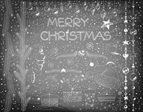 στοιχεία σχεδίου Χριστουγέννων που τίθενται Στοκ φωτογραφία με δικαίωμα ελεύθερης χρήσης