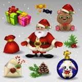 στοιχεία σχεδίου Χριστουγέννων που τίθενται ελεύθερη απεικόνιση δικαιώματος