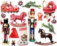 στοιχεία σχεδίου Χριστουγέννων που τίθενται Στοκ Φωτογραφίες
