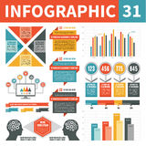 Στοιχεία 31 σχεδίου Infographics Στοκ φωτογραφία με δικαίωμα ελεύθερης χρήσης