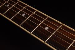 Στοιχεία της ακουστικής κιθάρας Στοκ φωτογραφία με δικαίωμα ελεύθερης χρήσης