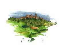 Στοιχεία της Βενετίας, Ιταλία Χρωματισμένο σκίτσο, εργασία τέχνης Στοκ Εικόνες