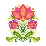 Στοιχεία της παραδοσιακής σλαβικής διακόσμησης επίσης corel σύρετε το διάνυσμα απεικόνισης Στοκ Εικόνα