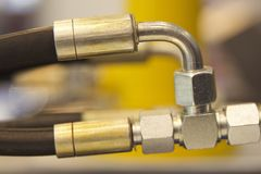 Στοιχεία της υδραυλικής και pneumatics συνδέσεων σωληνώσεων Στοκ εικόνα με δικαίωμα ελεύθερης χρήσης