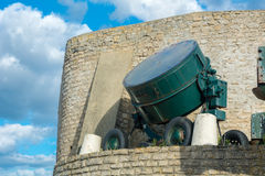 Στοιχεία του μουσείου της μέρας-μ σε Arromanches-arromanches-les-bains σε Normand Στοκ φωτογραφία με δικαίωμα ελεύθερης χρήσης