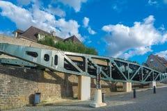 Στοιχεία του μουσείου της μέρας-μ σε Arromanches-arromanches-les-bains σε Normand Στοκ Εικόνες