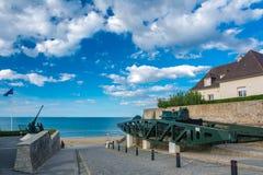 Στοιχεία του μουσείου της μέρας-μ σε Arromanches-arromanches-les-bains σε Normand Στοκ εικόνα με δικαίωμα ελεύθερης χρήσης