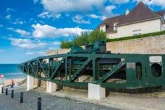 Στοιχεία του μουσείου της μέρας-μ σε Arromanches-arromanches-les-bains σε Normand Στοκ φωτογραφίες με δικαίωμα ελεύθερης χρήσης