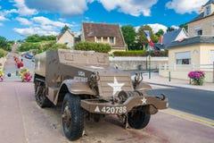 Στοιχεία του μουσείου της μέρας-μ σε Arromanches-arromanches-les-bains σε Normand Στοκ Φωτογραφίες