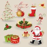 Στοιχεία Χριστουγέννων Στοκ φωτογραφία με δικαίωμα ελεύθερης χρήσης