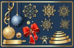 Στοιχεία Χριστουγέννων Στοκ Εικόνα