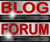 Στοιχεία Blog, φόρουμ Ιστού ελεύθερη απεικόνιση δικαιώματος