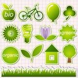 στοιχεία eco πράσινα Στοκ φωτογραφία με δικαίωμα ελεύθερης χρήσης