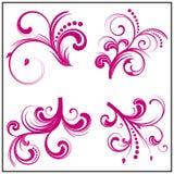 στοιχεία floral τέσσερα Απεικόνιση αποθεμάτων