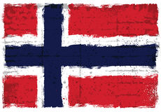 Στοιχεία Grunge με τη σημαία της Νορβηγίας Στοκ Εικόνες