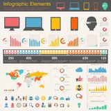 Στοιχεία Infographic βιομηχανιών της τεχνολογίας της πληροφορίας Στοκ φωτογραφία με δικαίωμα ελεύθερης χρήσης