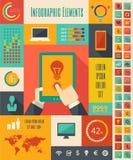 Στοιχεία Infographic βιομηχανιών της τεχνολογίας της πληροφορίας απεικόνιση αποθεμάτων