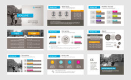 Στοιχεία Infographic για τα πρότυπα παρουσίασης Στοκ φωτογραφίες με δικαίωμα ελεύθερης χρήσης