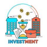 Στοιχεία Infographic για την επένδυση Στοκ φωτογραφία με δικαίωμα ελεύθερης χρήσης