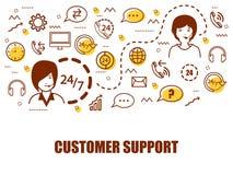 Στοιχεία Infographic για την επιχείρηση υποστήριξης πελατών Στοκ εικόνες με δικαίωμα ελεύθερης χρήσης