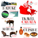 Στοιχεία Infographic για το ταξίδι στον Καναδά Στοκ φωτογραφία με δικαίωμα ελεύθερης χρήσης