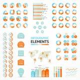 Στοιχεία Infographic, διάγραμμα, γραφική παράσταση, βέλη Στοκ Εικόνες