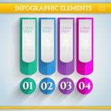 Στοιχεία Infographic στα επίπεδα χρώματα Στοκ φωτογραφία με δικαίωμα ελεύθερης χρήσης