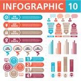 Στοιχεία 10 Infographic Στοκ Εικόνα