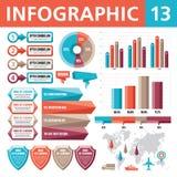 Στοιχεία 13 Infographic Στοκ φωτογραφία με δικαίωμα ελεύθερης χρήσης