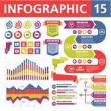 Στοιχεία 15 Infographic Στοκ φωτογραφία με δικαίωμα ελεύθερης χρήσης