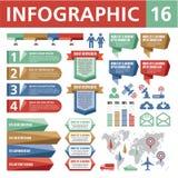 Στοιχεία 16 Infographic Στοκ Εικόνες