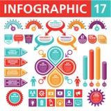 Στοιχεία 17 Infographic Στοκ Εικόνες