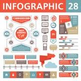 Στοιχεία 28 Infographic Στοκ φωτογραφία με δικαίωμα ελεύθερης χρήσης