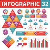 Στοιχεία 32 Infographic Στοκ Εικόνες